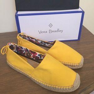 NEW Vera Bradley Lace Back Espadrilles In Maize